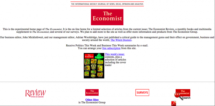 The Economist Old Website Text Few Images