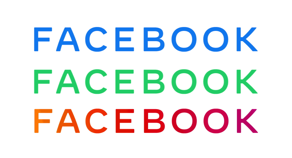 Facebook New Logos Blue (Facebook) Green (WhatsApp) Multicolored (Instagram)