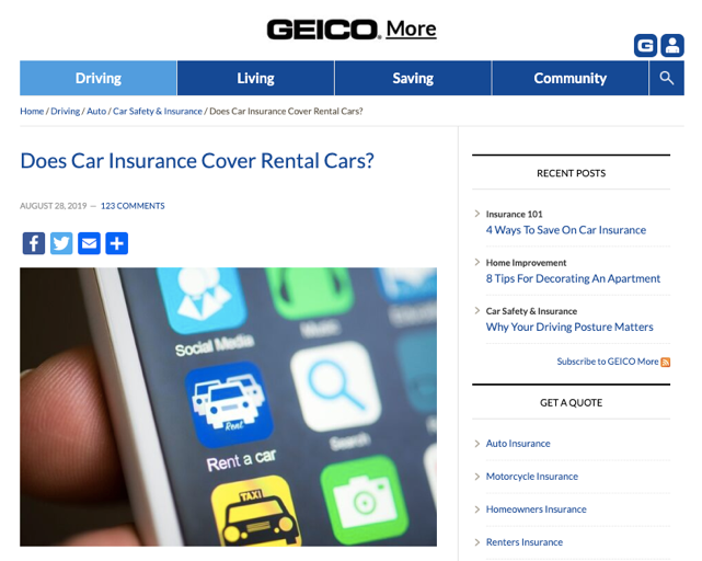 Geico Does Car Insurance Cover Rental Cars?