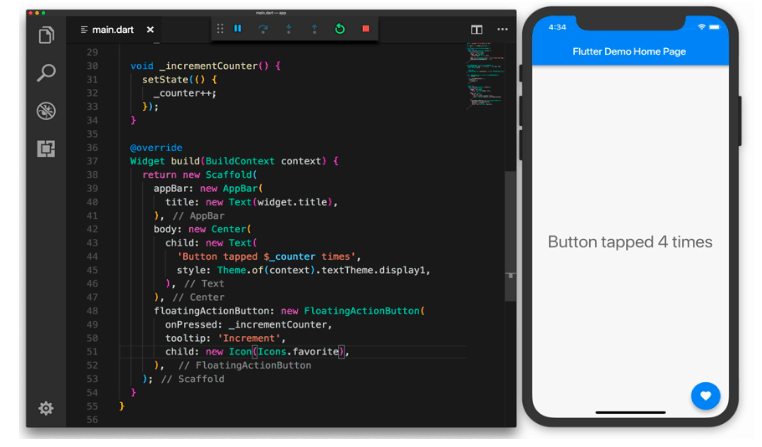 Flutter Hot reload feature