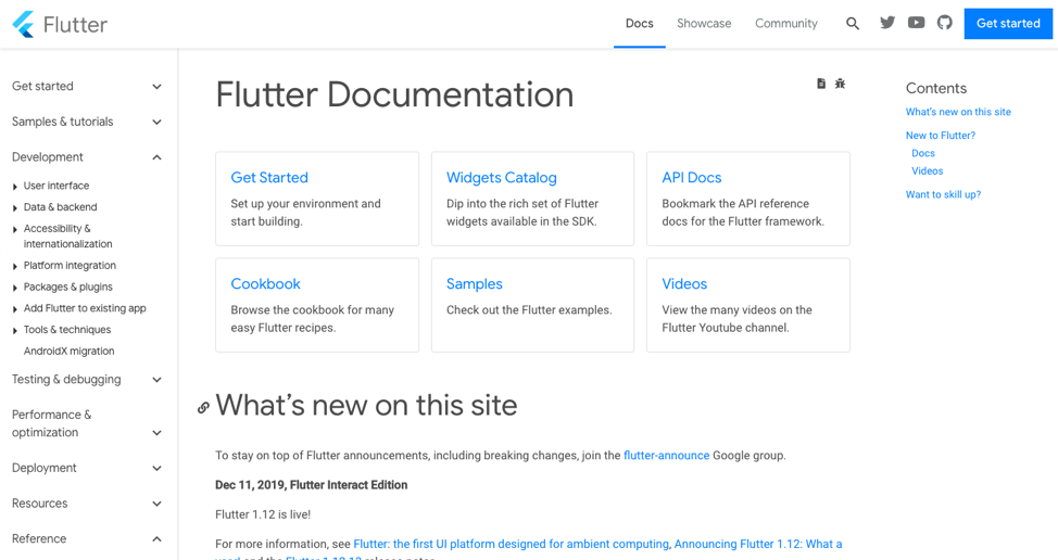 Flutter Documentation process for developers