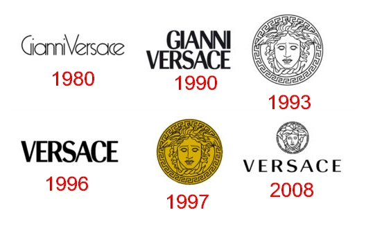Versace logo through the years