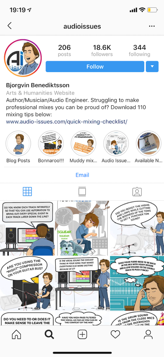 audio issues instagram account