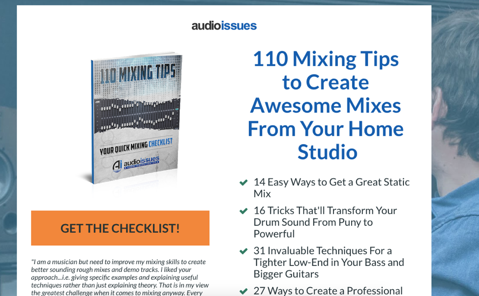 audio issues lead magnet 110 mixing tips for home studios