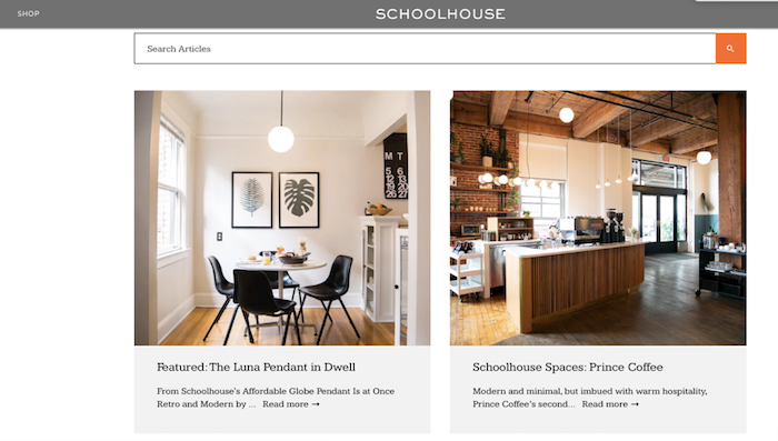 Schoolhouse home tours