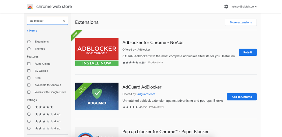Picture 2 - Chrome extension store