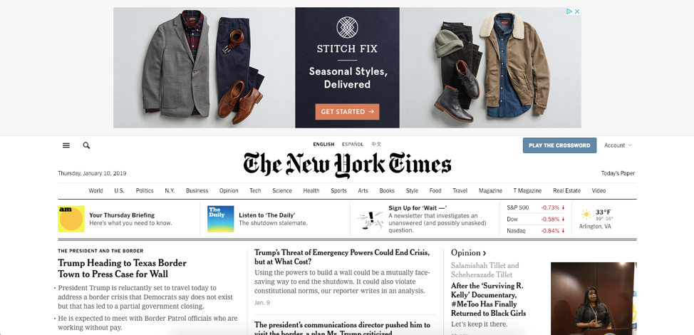 Picture 3 - NYT Banner Ad