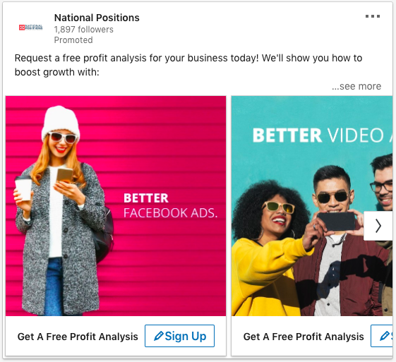 national positions linkedin add