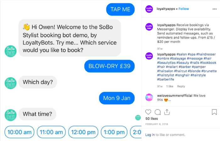 Businesses can use chatbots for routine tasks such as scheduling.