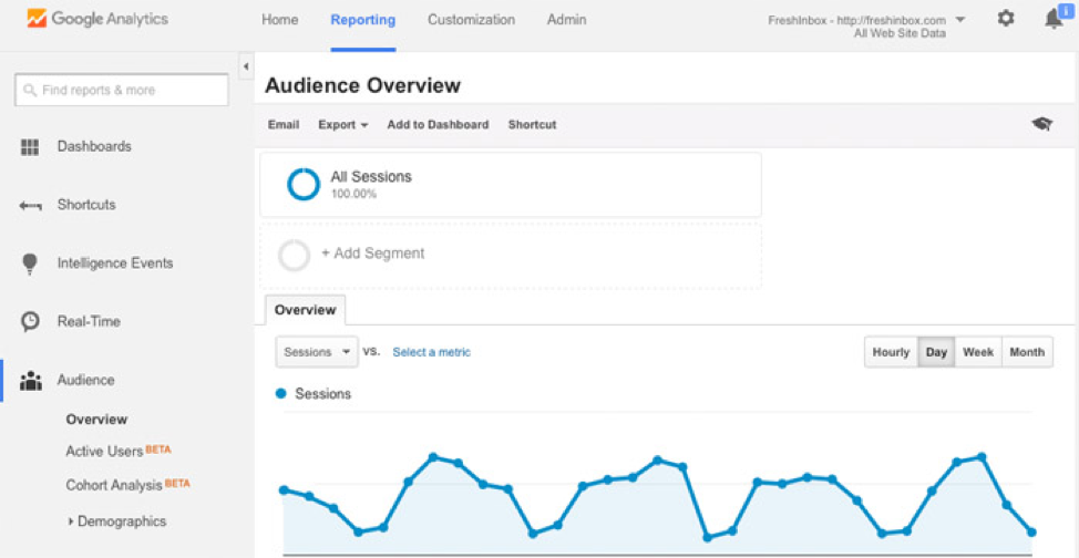 Audience Overview provides a more detailed level of tracking.