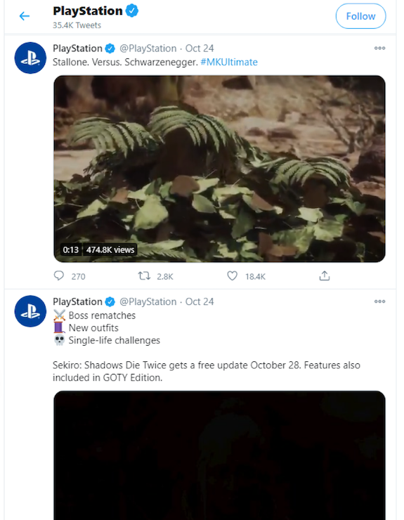 Playstation Twitter
