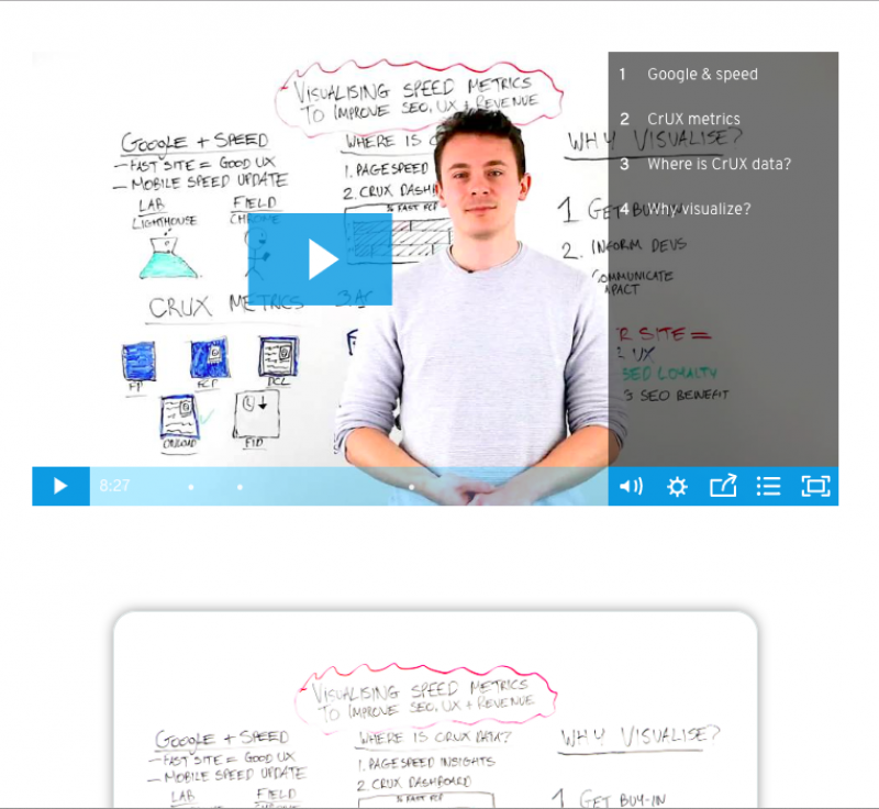 example of video content on Moz
