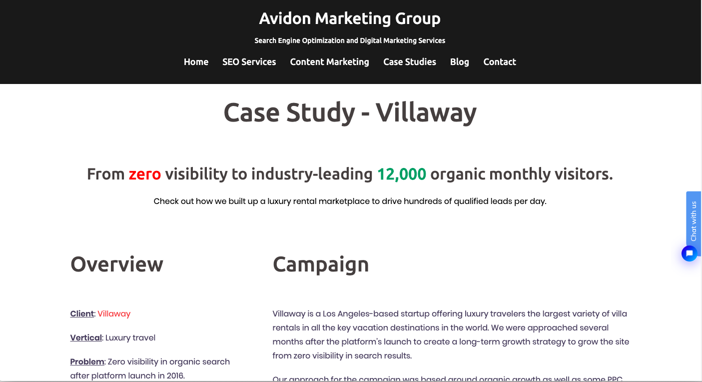avidon marketing case study example