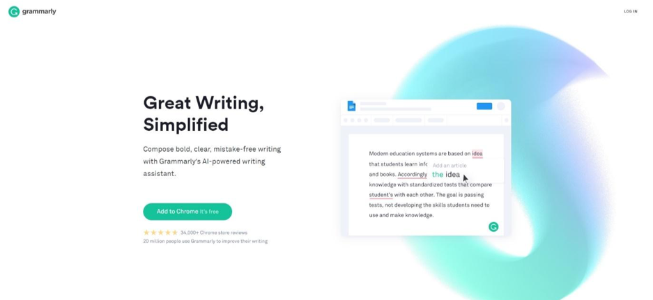grammarly real-time editing