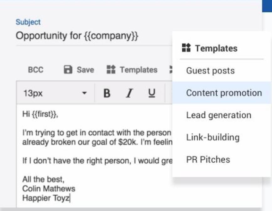 mailshake email templates